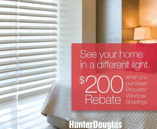 Hunter Douglas Pirouette® Window Shadings Rebate