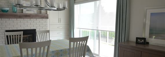 Drapes and Roller Shades