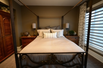 custom bedding and window treatments | The Well Dressed Window - Hunter Douglas Blinds