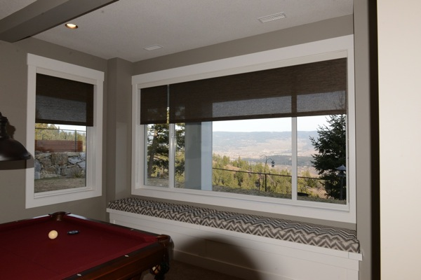 Roller shades on large window