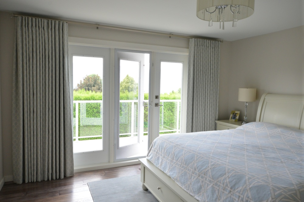 Patio doors with classic drapes