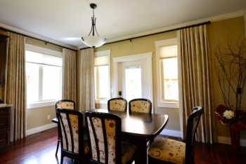 Dining room window treatments | The Well Dressed Window - Hunter Douglas Blinds