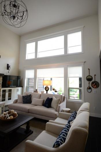 motorized blinds living room | The Well Dressed Window - Hunter Douglas Blinds
