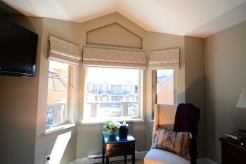 The Well Dressed Window Custom Roman Shades