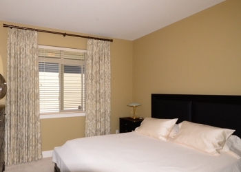 basket weave linen with gold medallion motif | The Well Dressed Window - Hunter Douglas Blinds