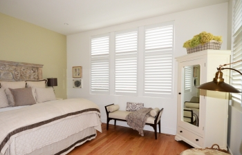 hidden tilt bar shutters | The Well Dressed Window - Hunter Douglas Blinds
