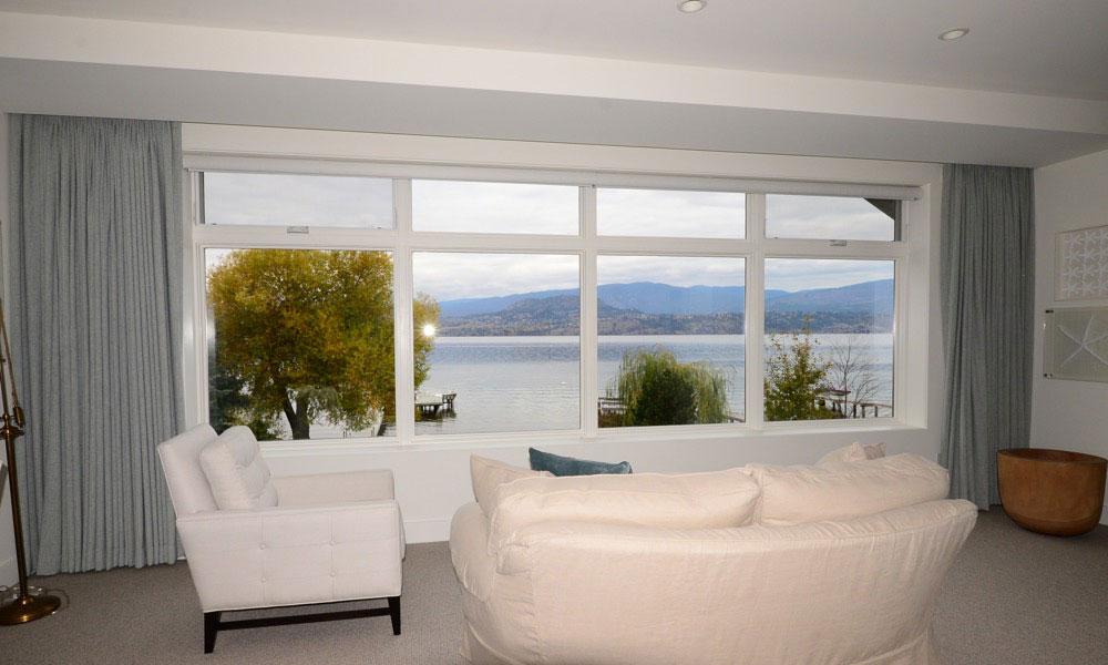 Hunter Douglas shutters create a cottage vibe
