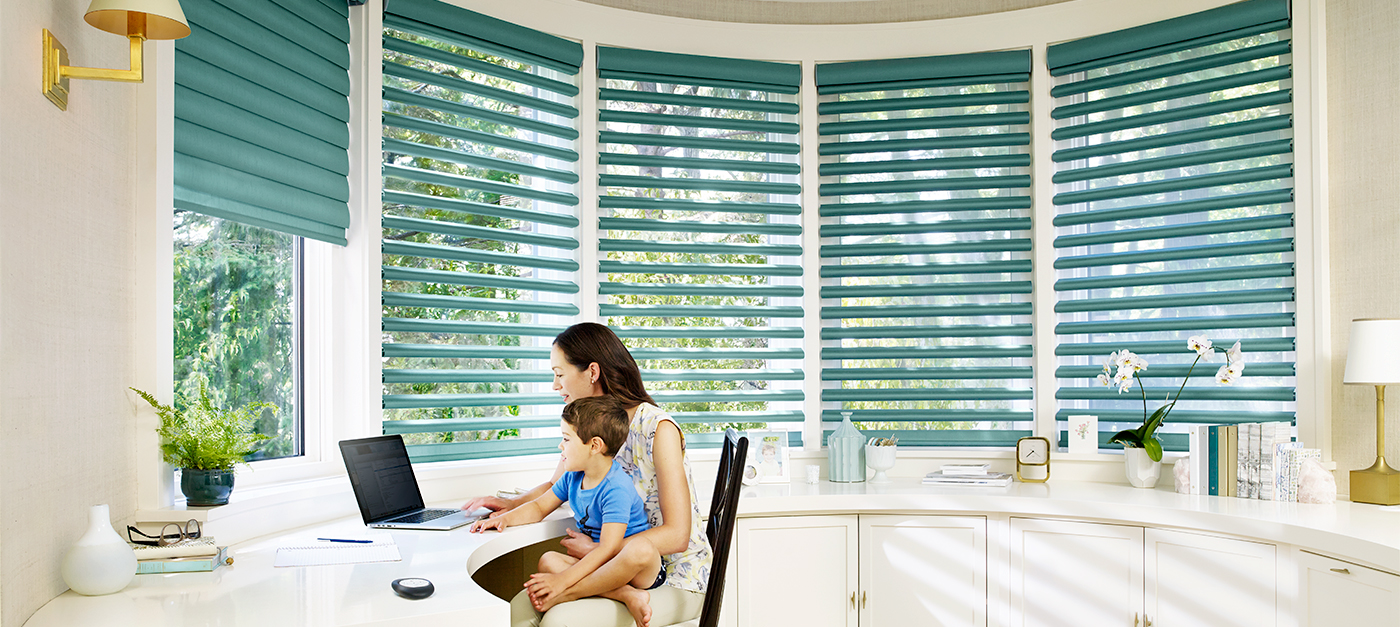 Hunter Douglas Pirouette Shadings | The Well Dressed Window Kelowna
