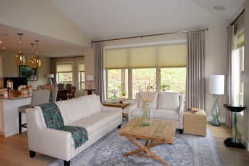 Hunter Douglas Window Treatments Kelowna | Shades and rapes in living room