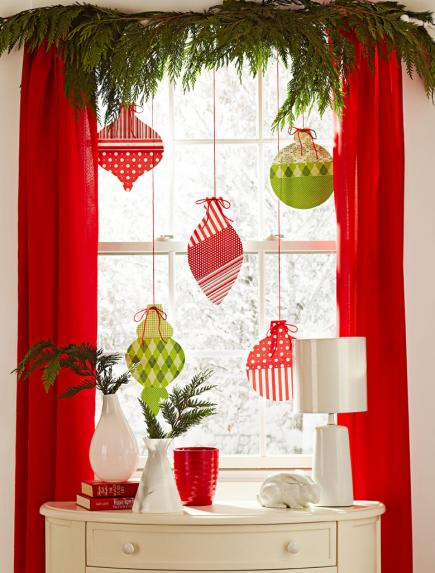 Hunter Douglas Window Treatments Kelowna | Holiday Window Decorating Ideas: Paper ornaments