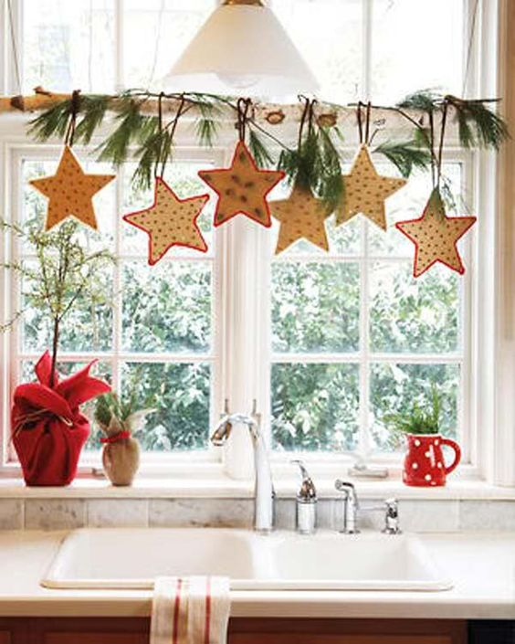 Hunter Douglas Window Treatments Kelowna | Holiday Window Decorating Ideas: Hanging branch with ornaments