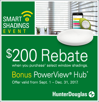 Hunter Douglas blinds fall rebate promotion