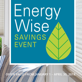 Hunter Douglas blinds energy wise savings event