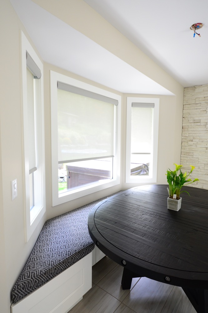 Dining room bay window | The Well Dressed Window Kelowna