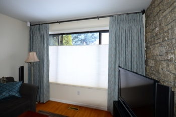 Top down bottom up blinds with blackout side panels