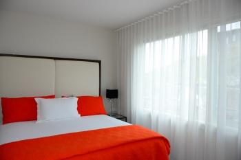 Sleek minimalist Ripple fold sheers in modern house