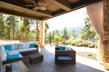 Outdoor drapery | The Well Dressed Window Kelowna