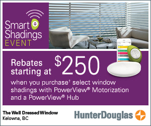 Hunter Douglas blinds smart shadings event | The Well Dressed Window Kelowna