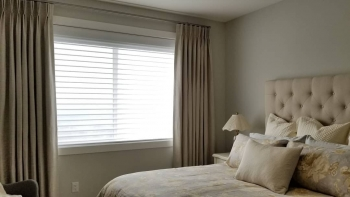Hunter Douglas Silhouettes and Blackout Drapery | Blinds Kelowna | The Well Dressed Window
